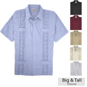 guayabera shirts image is loading big-and-tall-men-039-s-guayabera-short- mgfxzpj