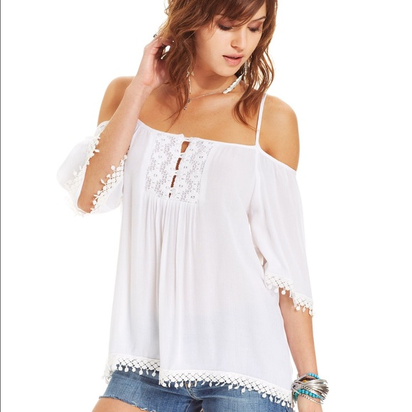 gypsy tops american rag tops - off the shoulder white gypsy top krgiqqg