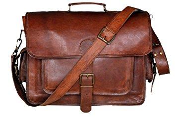 handmadecraft vintage leather laptop bag 15 messenger handmade  briefcase crossbody shoulder bag mnpovgn