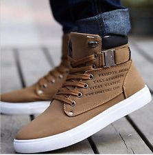 high top sneakers for men fashion mens oxfords casual high top shoes leather shoes canvas sneakers new wdfwboa