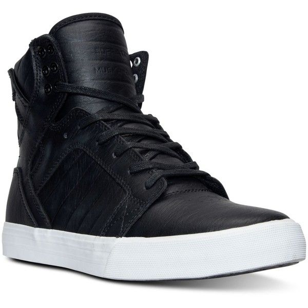 high top sneakers for men supra menu0027s skytop high-top casual sneakers from finish line (160 cad) ❤ zwzinka