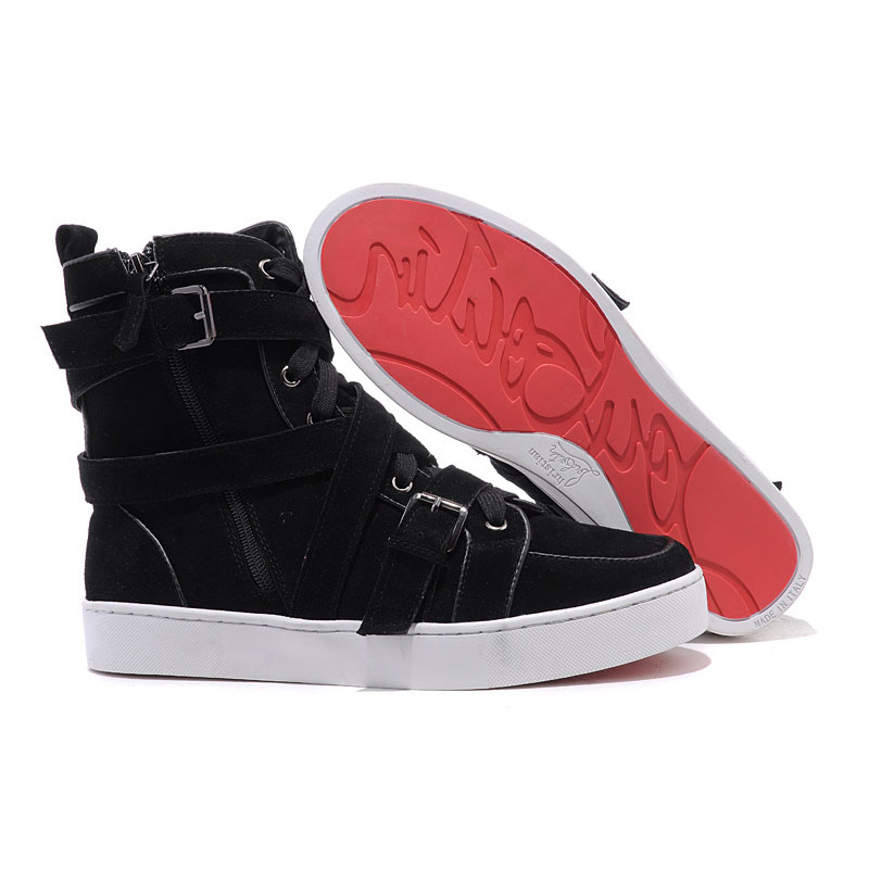 high top sneakers for women personality christian louboutin spacer flat high top womens sneakers black  suede ikvofoz