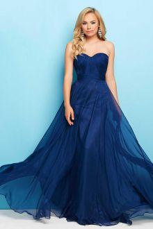 indigo strapless a line shirred chiffon sweetheart ball dress whizvhh