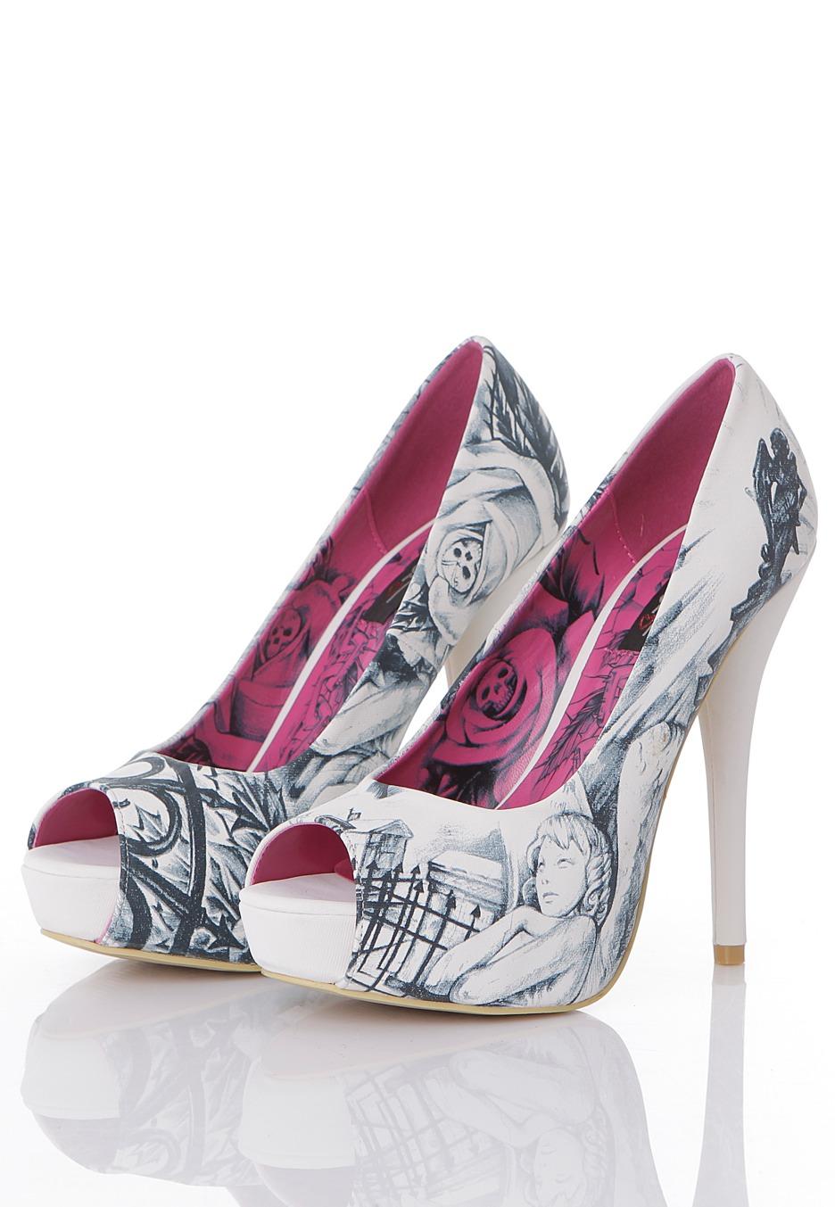 iron fist heels iron fist - gated soul white - heels - impericon.com uk gtnxqkv