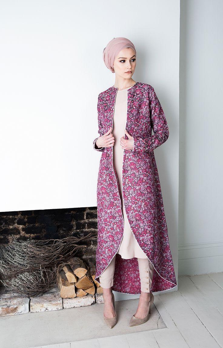 islamic fashion hijab fashion 2016/2017: pink coral kimono hijab fashion 2016/2017:  sélection cxjyvqu