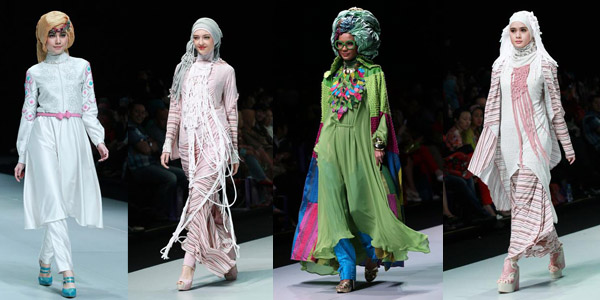 islamic fashion show , jakarta , indonesia k qewwajy