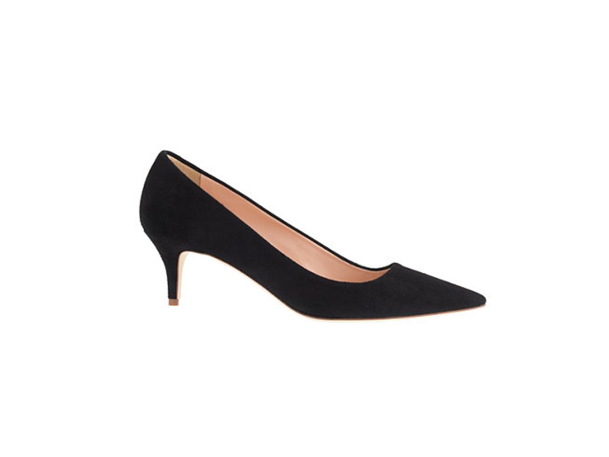 j.crew dulci suede kitten heels, $198 vouzylk