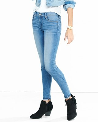 jeans for women mid rise faded stretch jean leggings | express autinwc