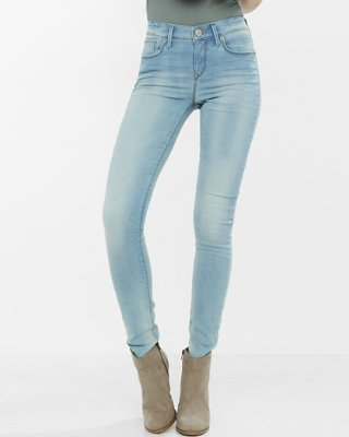 jeans leggings mid rise faded stretch+ jean leggings | express dixtqlk
