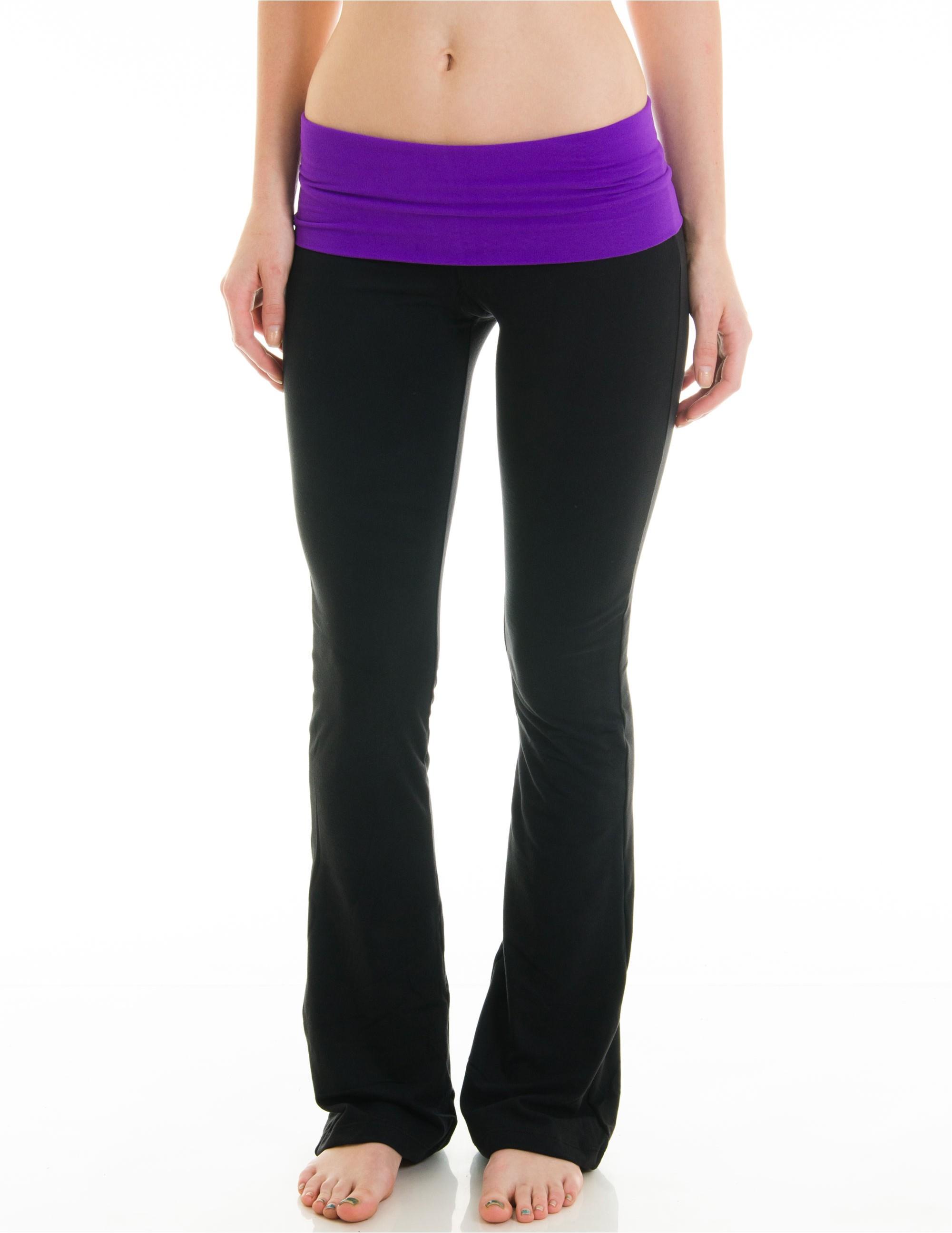 juniors fold over athletic pants purple bdqhkeo