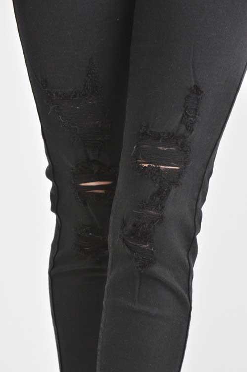 kancan jeans ripped black skinny jeans kc6048bk whqjpoe