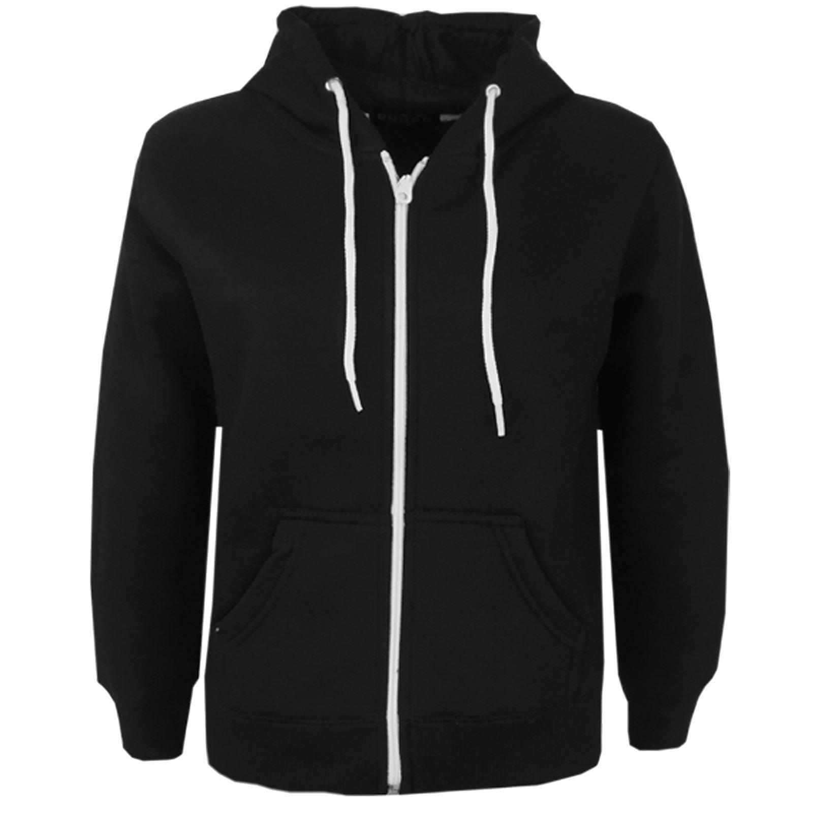 kids children girls boys zip up plain hoodie jacket hooded zipper  sweatshirt lsvofnz