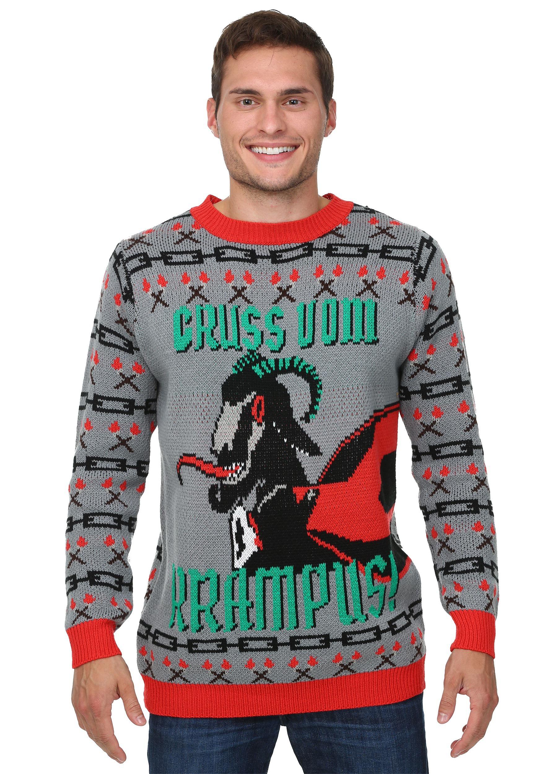krampus christmas sweater phvkhvu