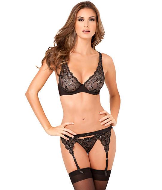 lace lingerie rene rofe: lux lace lurex bra set jcbftwq