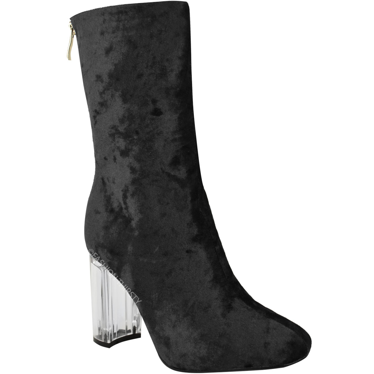 ladies ankle boots womens-ladies-ankle-boots-clear-perspex-block-high- pcpogis