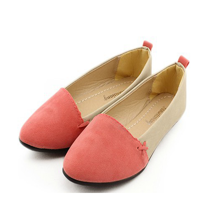 ladies flat shoes pointed toe fashion design flat shoes simple comfortable  slip-on qfaqeyo