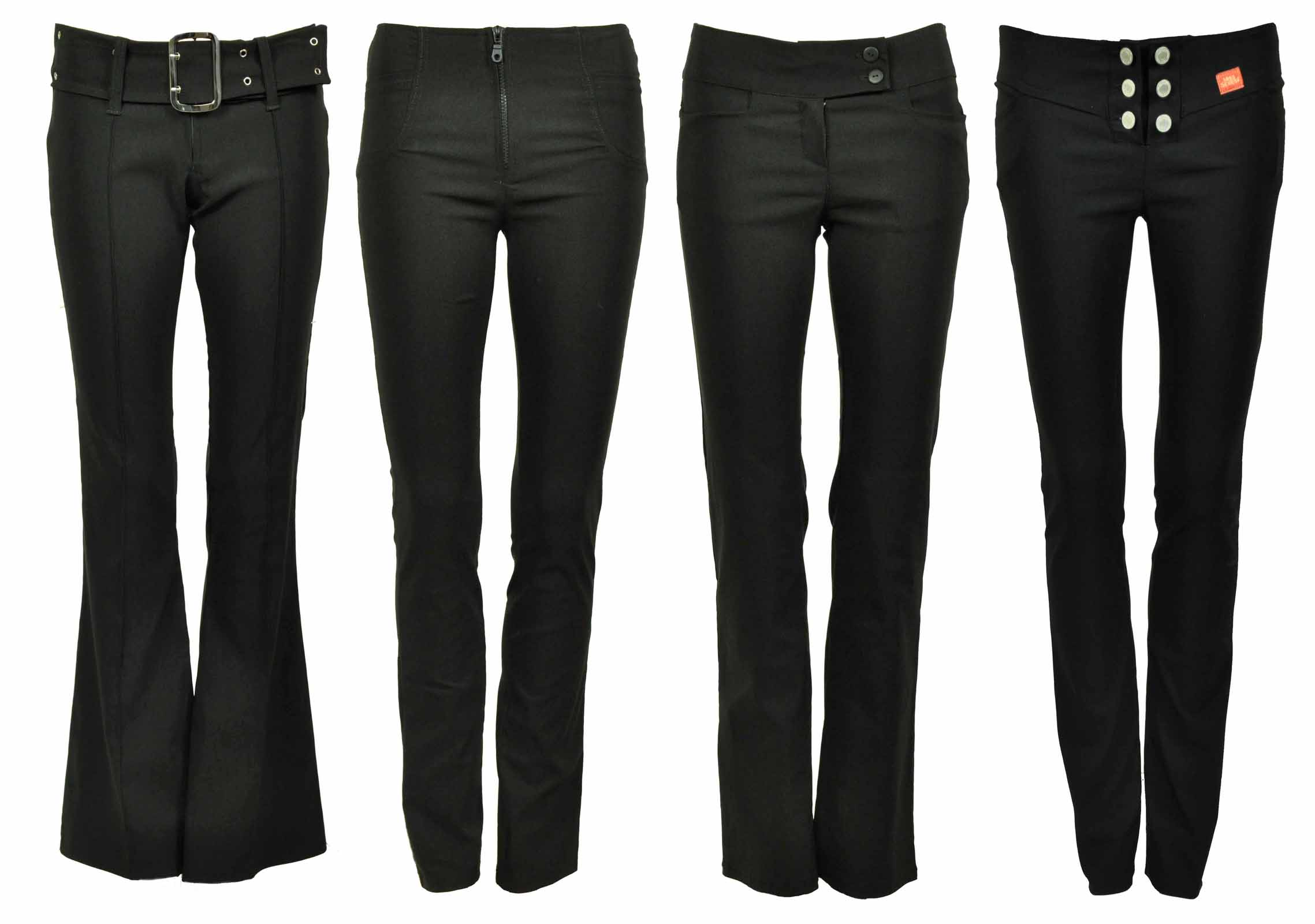 ladies trousers new-womens-plain-black-stretch-hipster-ladies-trousers frgflry