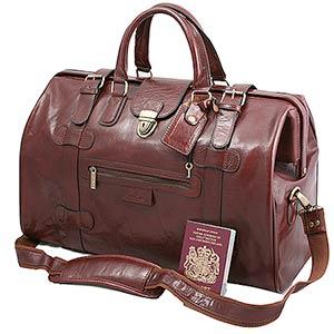 large cognac leather gladstone bag axozxzo