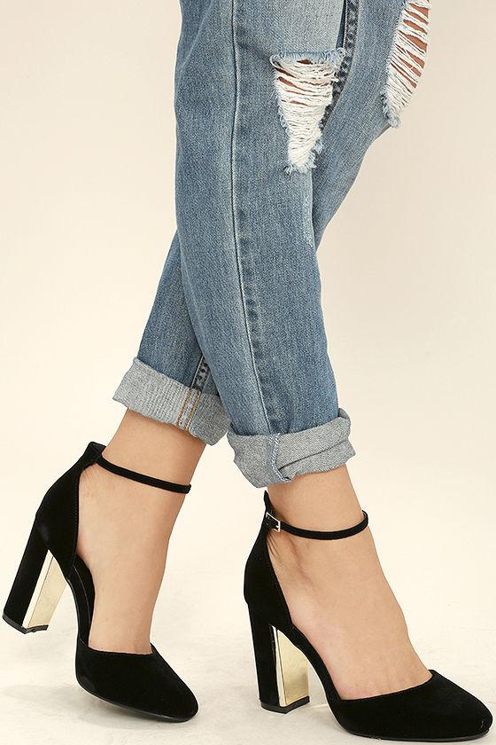 laura black velvet ankle strap heels 1 fsssvux