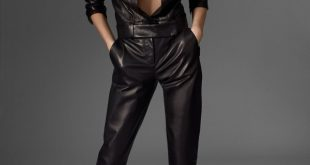 womens black leather jumpsuit qgvxxsn
