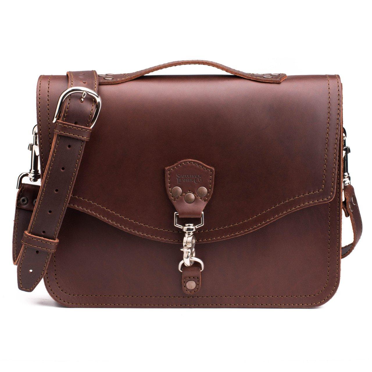 leather laptop bag in chestnut leather sgpopjo
