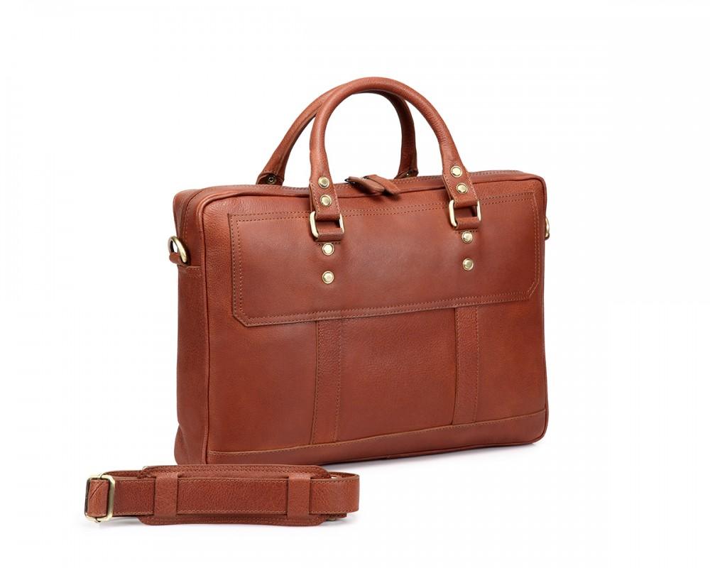 leather laptop bag thecultured laptop bag - tan ulaepsk