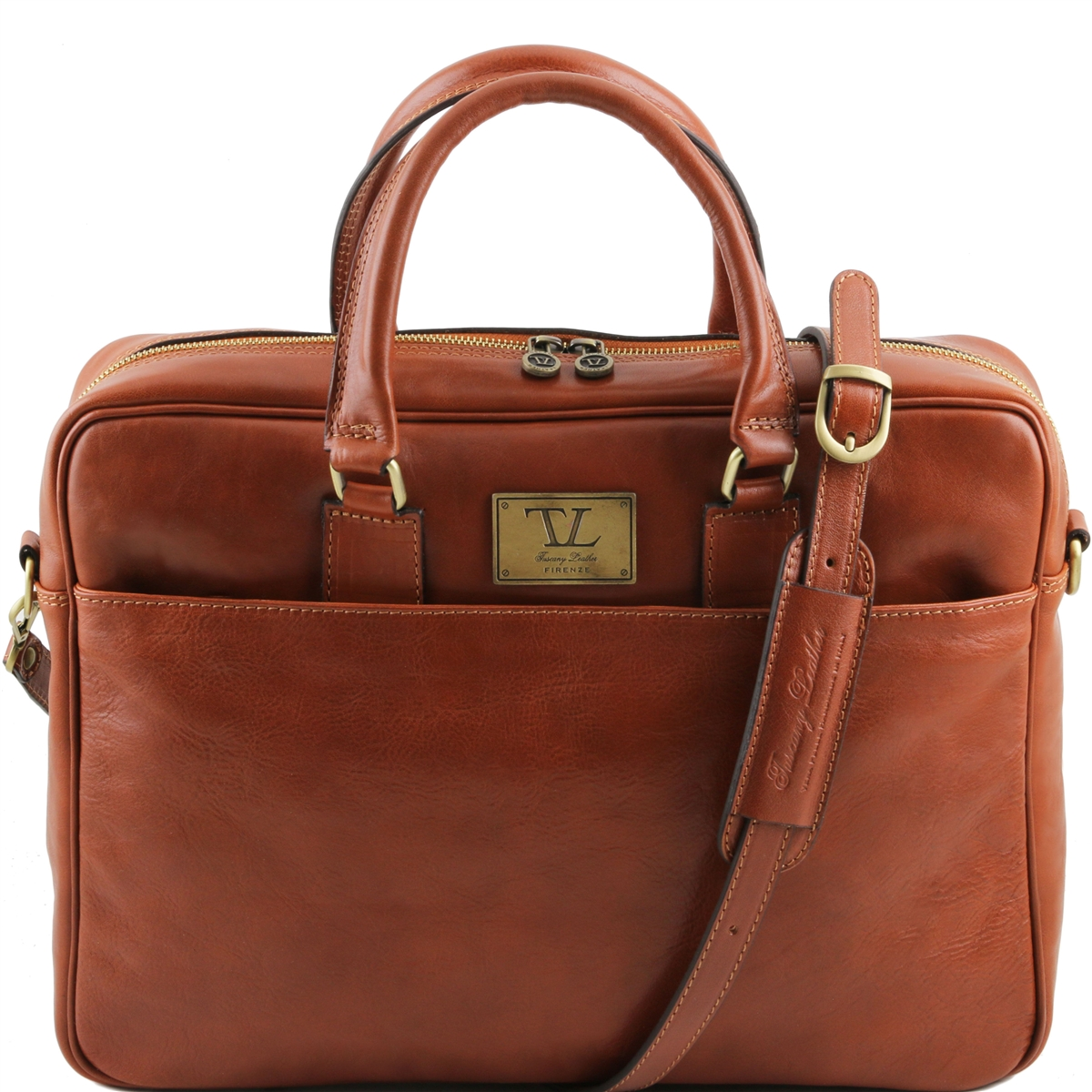 leather laptop bag tuscany leather tl141241 urbino laptop bag - honey wtnathy