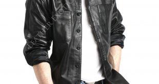 stylish leather shirt online for men jydmoqc