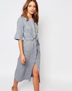 linen dresses image 1 of warehouse linen midi dress qxqrvkz