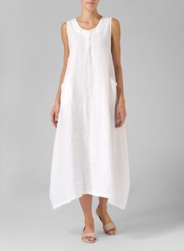 linen dresses linen sleeveless long dress brnakyb