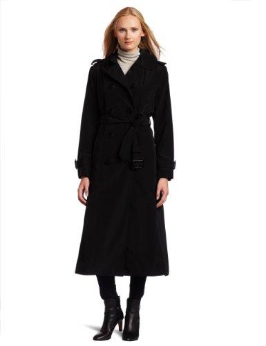long black coat london fog double-breasted long black trench coat xhvjqqi