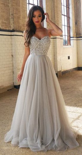 long formal dresses a-line spaghetti straps sweetheart tulle prom dress,floor-length prom  dresses with beading,n103 uzjsorq