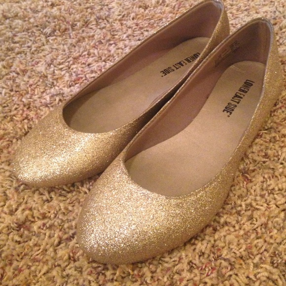 lower east side shoes - sparkly gold flats egvkxhk