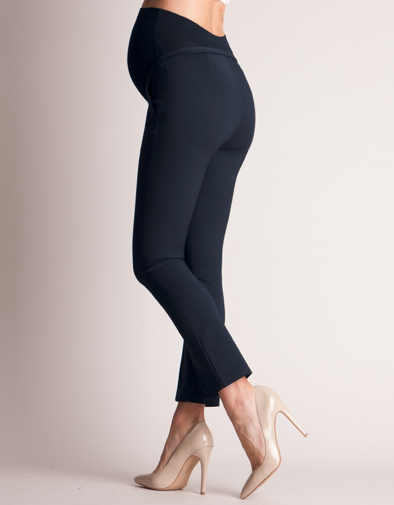 tailored navy cropped maternity pants frkplvw