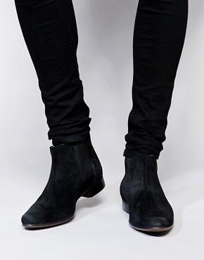 mens black boots asos chelsea boots in suede kdawdco
