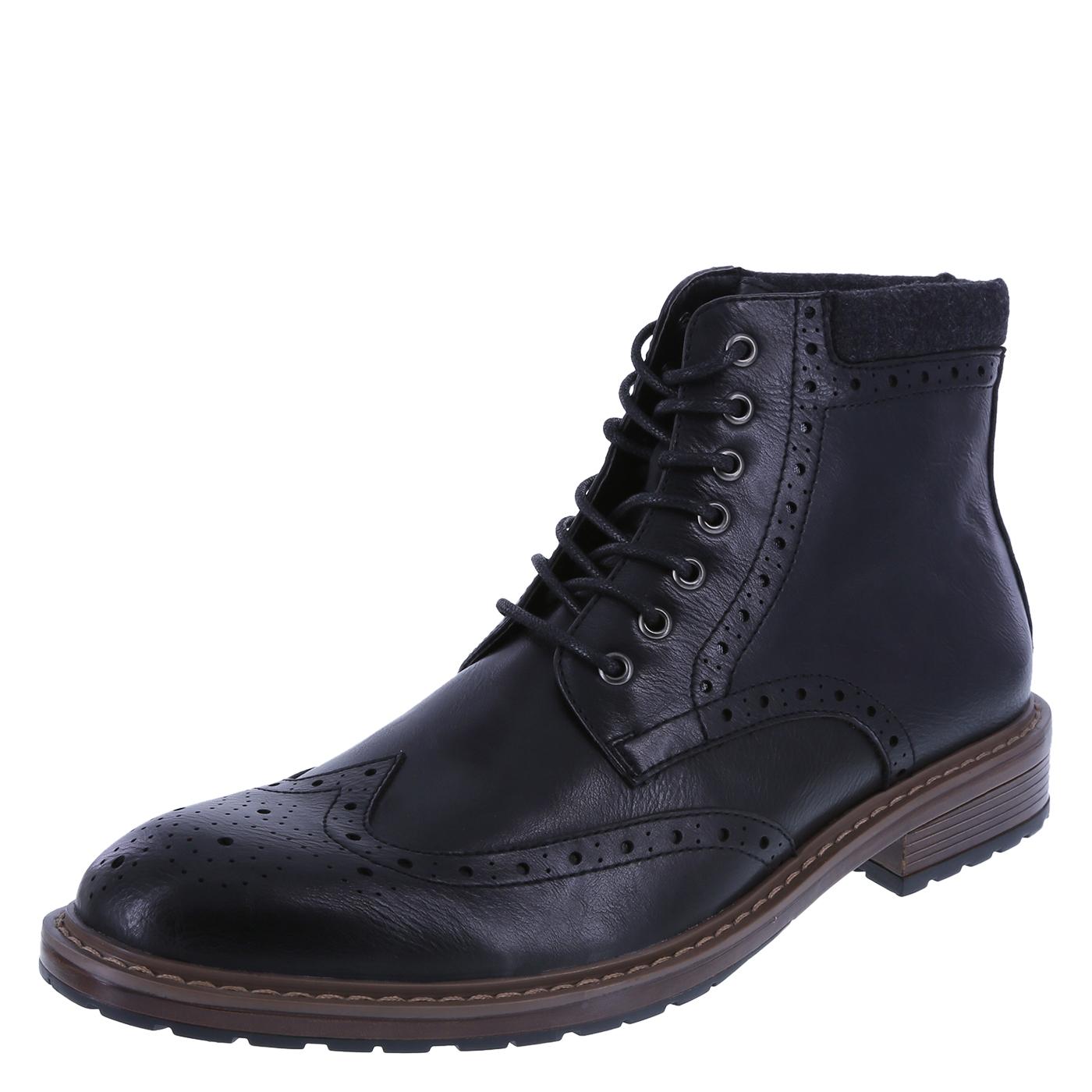 mens black boots menu0027s elliot brogue lug boot, black, hi-res ztiskft