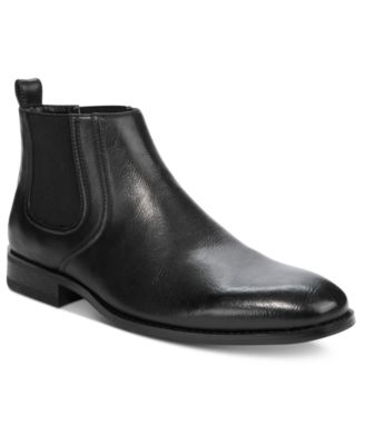 mens black boots unlisted by kenneth cole menu0027s half-n-half boots jxlmzow