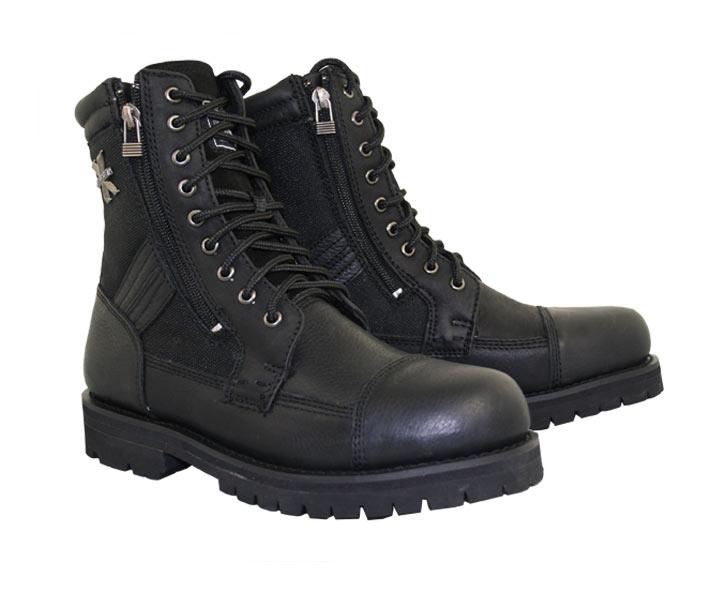 mens black boots xelement 1506 u0027impactu0027 menu0027s black motorcycle biker boots - leatherup.com gqenwbb