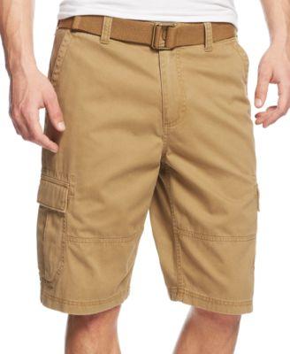 mens cargo shorts american rag menu0027s belted relaxed cargo shorts, created for macyu0027s dwmwcrl