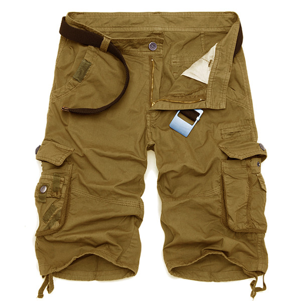 mens cargo shorts summer mens cotton cargo shorts casual multi pocket shorts pure color  cargos jsiczsb