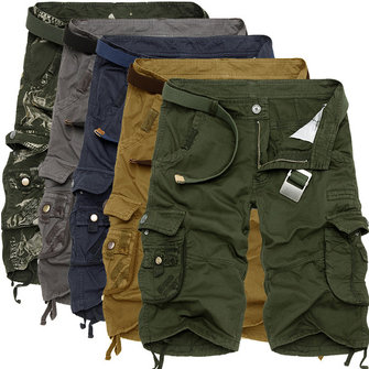mens cargo shorts summer mens cotton cargo shorts casual multi pocket shorts pure color  cargos klpsjmb
