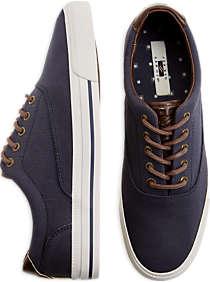 mens casual shoes, shoes - joseph abboud parkers navy canvas lace ups - rsertua