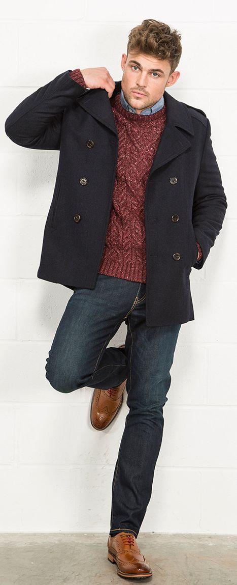 mens pea coats fellini tailored herringbone twill mens peacoat from slater menwear aw15  collection eukmago