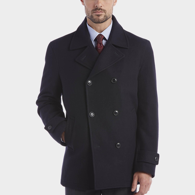 mens pea coats mens peacoats, outerwear - egara dark navy double-breasted modern fit  peacoat - ckrjikw