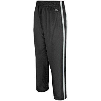 mens tearaway athletic pants (black/silver) - small yfhzqcq
