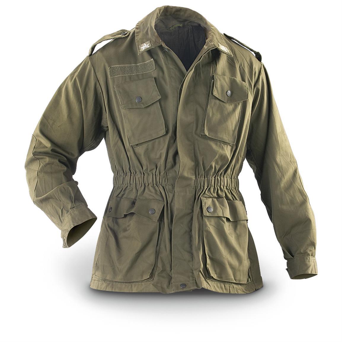 military jackets 2 used italian military combat jackets, olive drab fykewdi