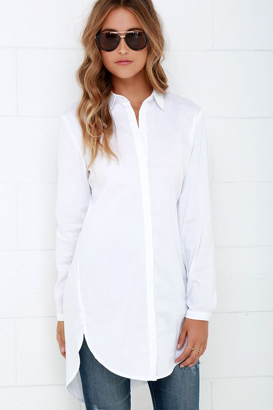 mink pink call me crazy white button-up tunic top crluysi