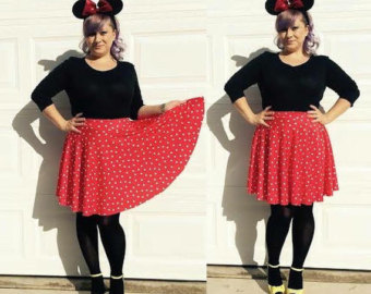 minnie mouse red and white polka dot skirt ... disneybounding, bridesmaids,  vlv jgvmmsa