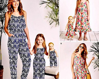 mommy and me outfits mommy and me and dolly jumpsuit pattern, mommy and me dress pattern, dolly yjbfaeh