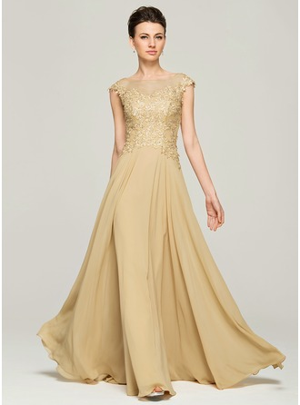 mother of the bride dresses a-line/princess scoop neck floor-length chiffon lace mother of the bride pmnzvye